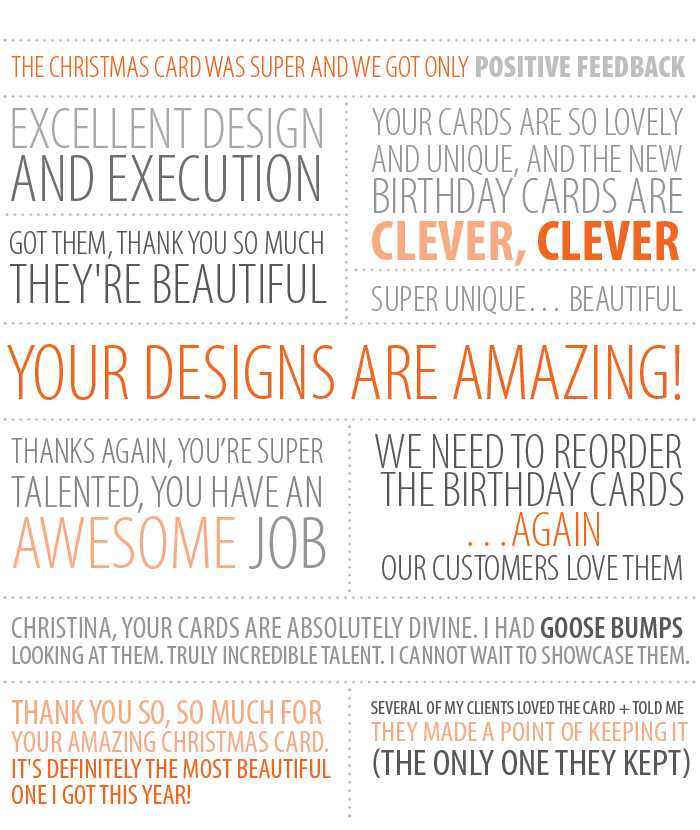 Nib Tuck Is Grateful For The Companies And Individuals Who Order Our Cards Year After Here Are A Few Kind Words From Customers Some Of